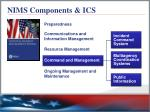 nims components ics1