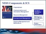 nims components ics3