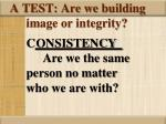 a test are we building image or integrity