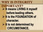 why is integrity important1