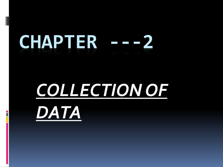 collection of data n.