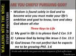 are you chiefly pursuing god2