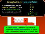 conceptest 13 1a harmonic motion i