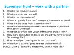 scavenger hunt work with a partner