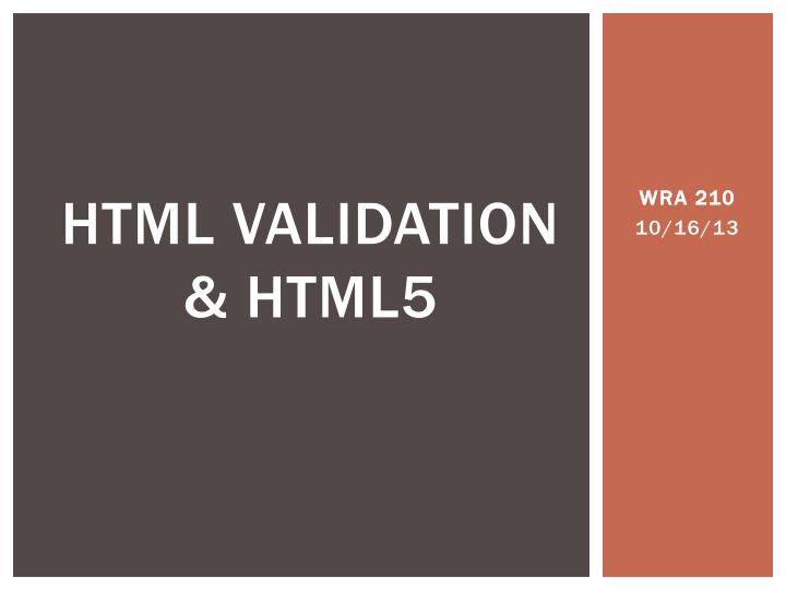 html validation html5 n.