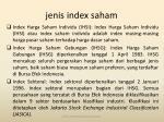 jenis index saham