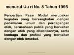 menurut u u ri no 8 tahun 1995