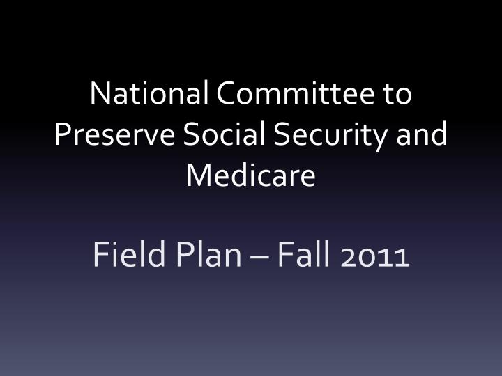national committee to preserve social security and medicare n.