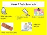 week 3 en la farmacia