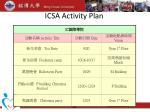 icsa activity plan