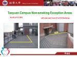 taoyuan campus non smoking exception areas