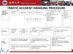 traffic accident handling procedure