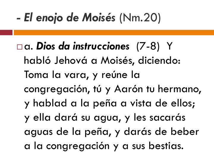 - El enojo de Moisés