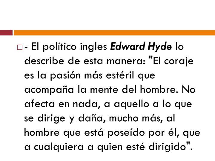 - El político ingles