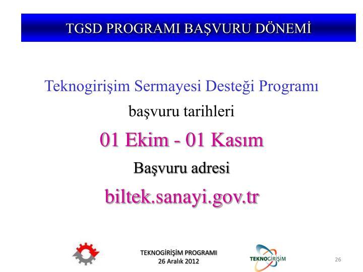 TGSD PROGRAMI BAŞVURU DÖNEMİ