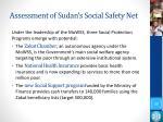 assessment of sudan s social safety net1