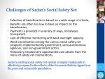 challenges of sudan s social safety net