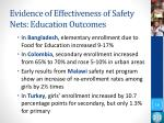 evidence of effectiveness of safety nets education outcomes