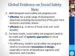 global evidence on social safety nets