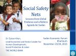 social safety nets lessons from global evidence and a reform agenda for sudan