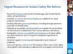 urgent measures for sudan s safety net reform