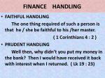 finance handling