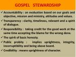gospel stewardship