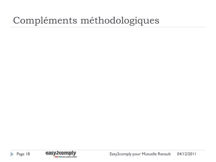 Compléments méthodologiques