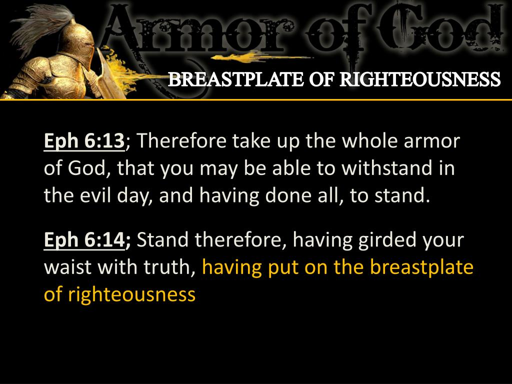 Ppt Breastplate Of Righteousness Powerpoint Presentation Free