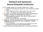outreach and awareness annual statewide conference