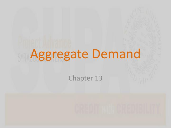 aggregate demand n.