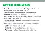 after diagnosis