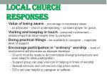 local church responses