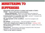 ministering to sufferers