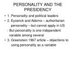 personality and the presidency
