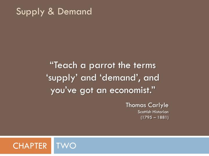 supply demand n.