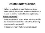 community surplus