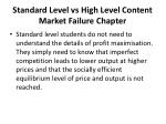 standard level vs high level content market failure chapter