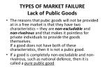 types of market failure lack of public goods1