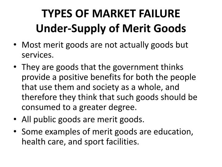 merit goods and services