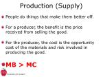 production supply