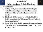 a study of mormonism a brief history1