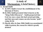 a study of mormonism a brief history2