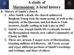 a study of mormonism a brief history3