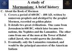 a study of mormonism a brief history4