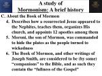 a study of mormonism a brief history5