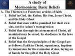 a study of mormonism basic beliefs