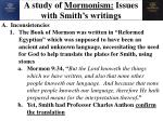 a study of mormonism issues with smith s writings
