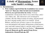 a study of mormonism issues with smith s writings1