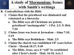 a study of mormonism issues with smith s writings12